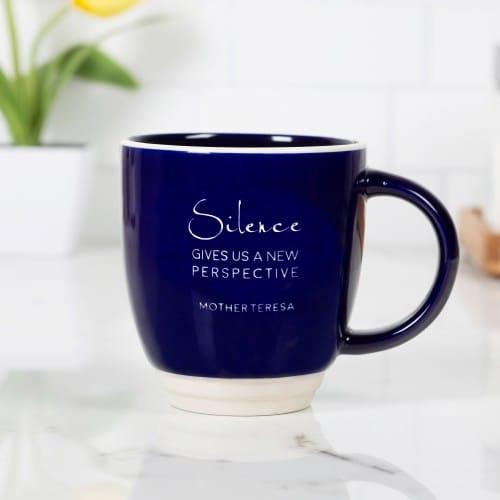 "Mother Teresa ""Silence Gives Us A New Perspective"" Mug"