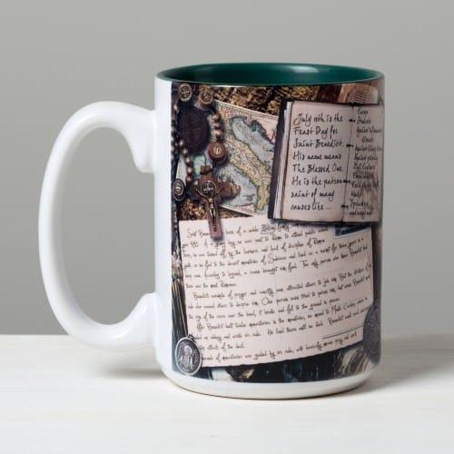 Saint Benedict Story Mug
