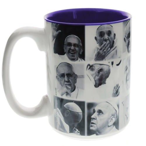 The Many Faces of Pope Francis Mug