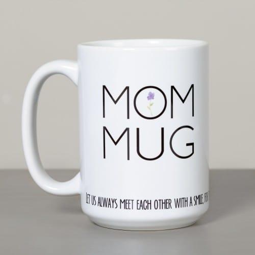 """Mom Mug - Mother Teresa """"Smile"""" Quote"""