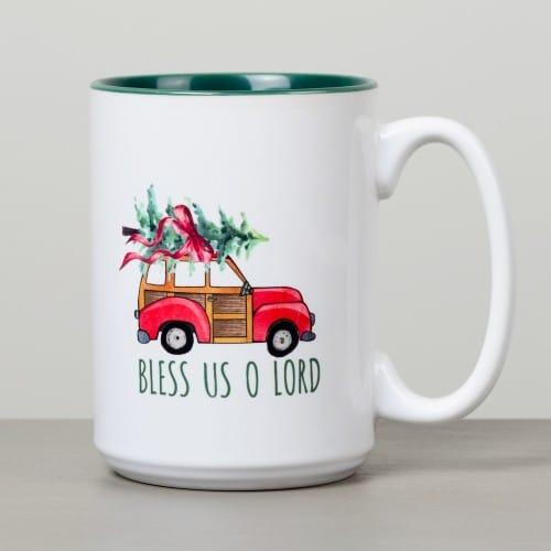 Retro Woody Wagon Christmas Tree Mug