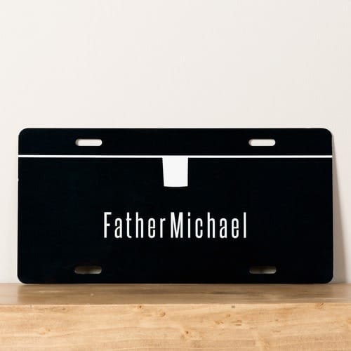 Personalized Priest License Plate