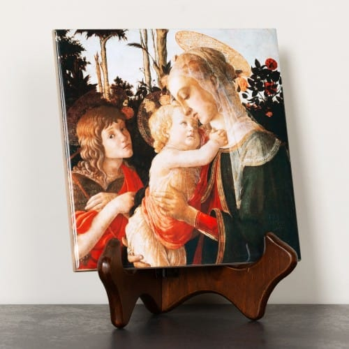 Botticelli Madonna & Child with St. John Ceramic Tile