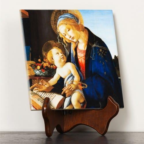 Madonna of the Book Ceramic Tile