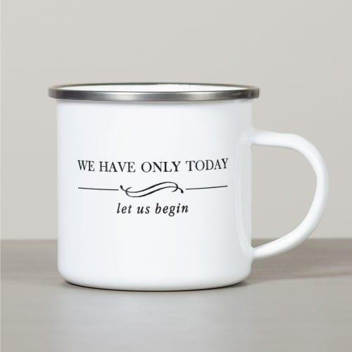 Personalized Mother Teresa Let Us Begin Camp Mug