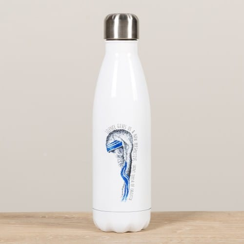 "Personalized Mother Teresa ""Silence"" Water Bottle"