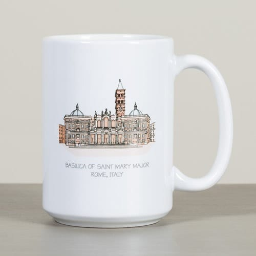 St. Mary Major Basilica Ink & Watercolor Mug
