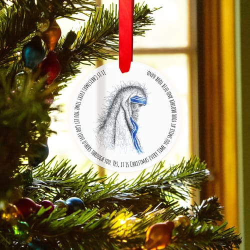"Mother Teresa ""It is Christmas"" Ornament"