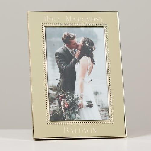 Personalized Wedding Beaded Keepsake Frame