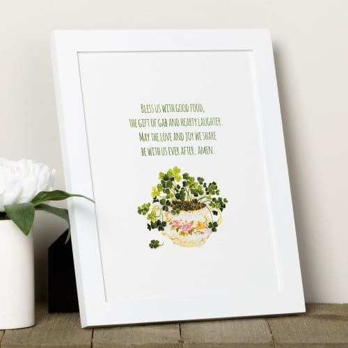 Irish Kitchen Blessing Framed Print