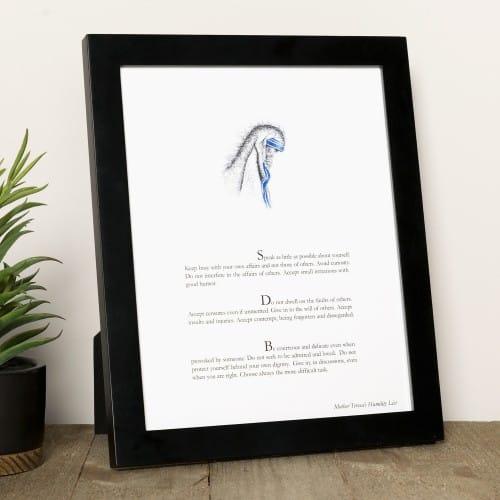 Mother Teresa's Humility List Print