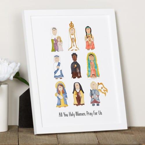 Junior Saints Litany of Female Saints Print