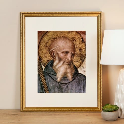 Head of St. Benedict Framed Print