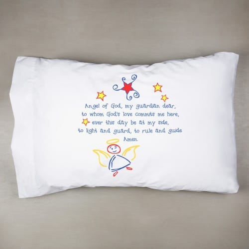 Guardian Angel Pillowcase - Primary Colors