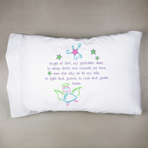 Guardian Angel Pillowcase - Pastel Colors