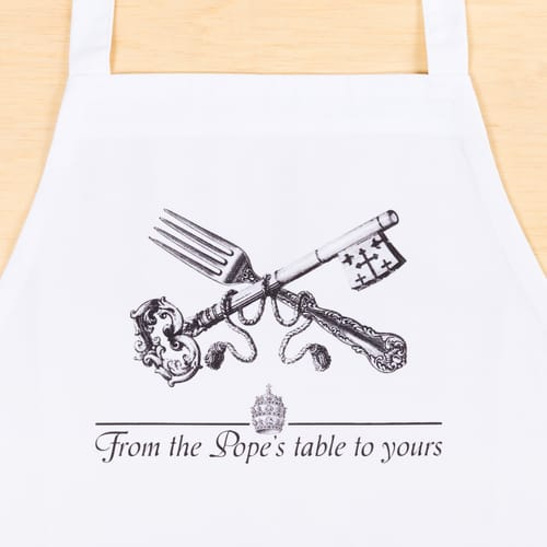 From the Pope's Table Apron
