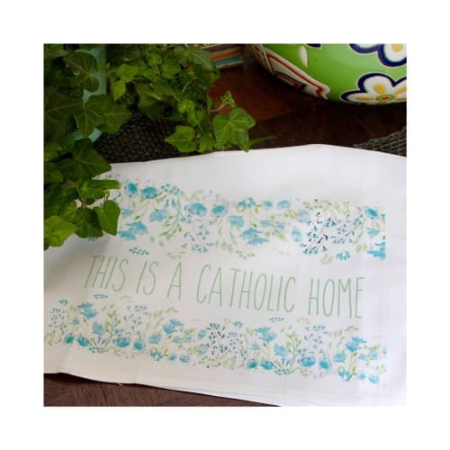 This Is a Catholic Home Dish Towel