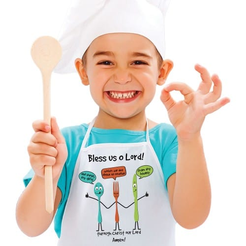 Child's Bless Us O Lord Apron
