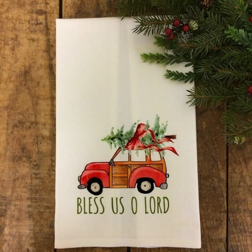 Retro Woody Wagon Christmas Tree Kitchen Accessories