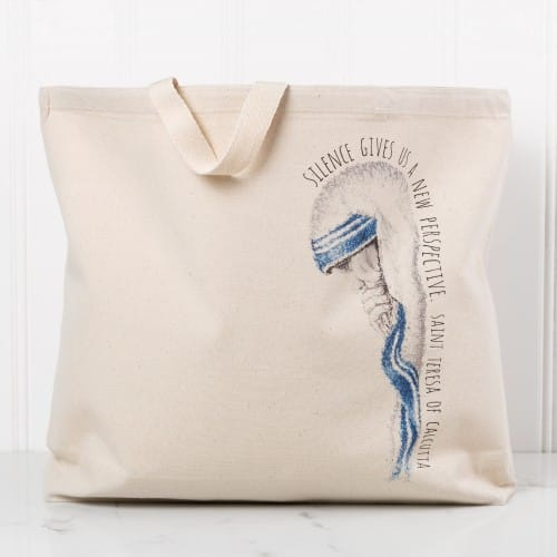 "Mother Teresa ""Silence"" Canvas Tote"