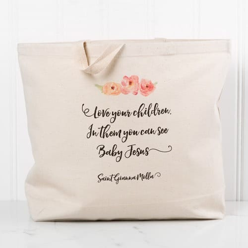 """Love Your Children"" Canvas Tote"
