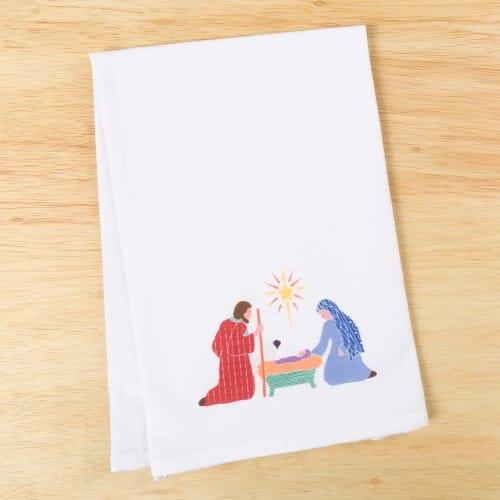 Holy Family Flour Sack Dish Towel