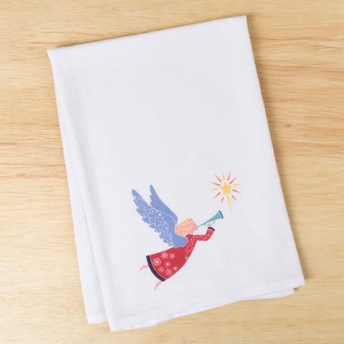 Angel Color Block Dish Towel