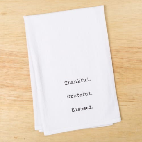 Thankful Grateful Blessed Towel