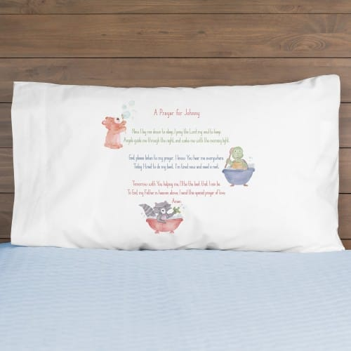 Personalized Good Night Prayer Boy Pillowcase