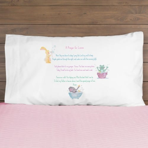 Personalized Good Night Prayer Girl Pillowcase