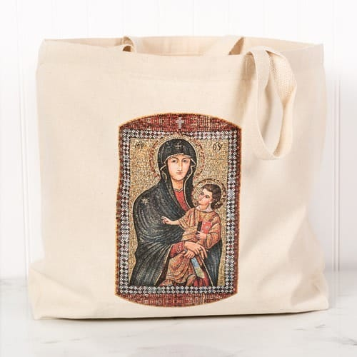 Mary Mother of the Church Canvas Tote