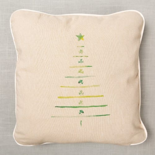 Irish Shamrock Christmas Tree Pillow
