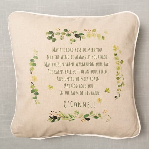 Personalized Irish Blessing Pillow