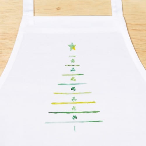 Irish Shamrock Christmas Tree Apron
