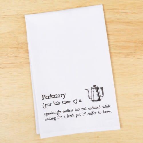Coffee Perkatory Dish Towel