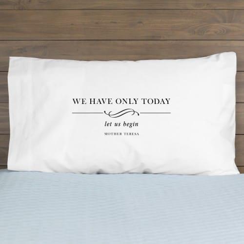 Mother Teresa Let Us Begin Pillowcase