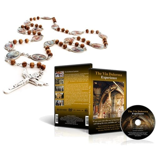 The Via Dolorosa Experience DVD and Stations of the Cross Rosary