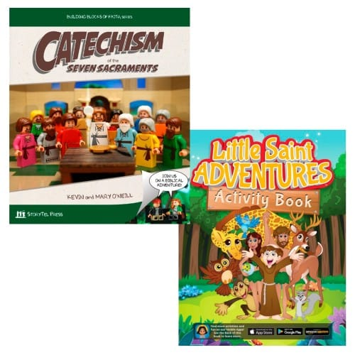 Catechism of The Seven Sacraments & Little Saints Adventures-Activity Book (2 Book Set) 9990732