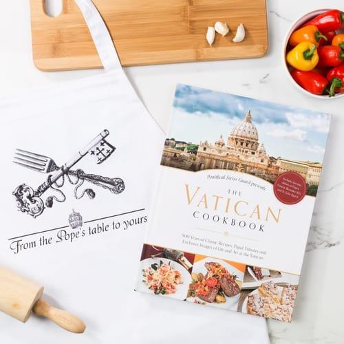 The Vatican Cookbook & Apron Gift Set