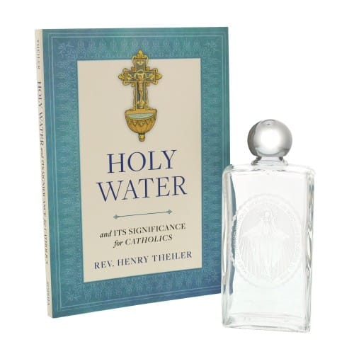 Holy Water Bottle and Book Set
