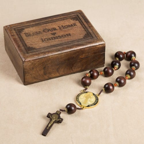 Personalized St. Benedict Rosary Home Blessing Set