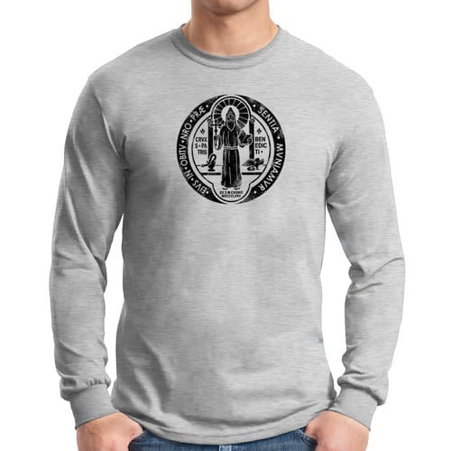 St. Benedict Grey Long Sleeve