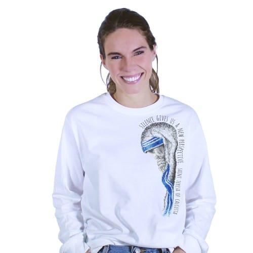 "Mother Teresa ""Silence"" Long Sleeve T-Shirt"