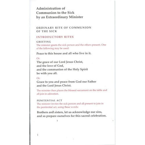 Administration of Communion to the Sick by Special Ministers