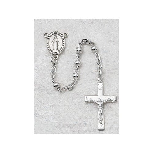 All Sterling Silver Rosary - 3mm