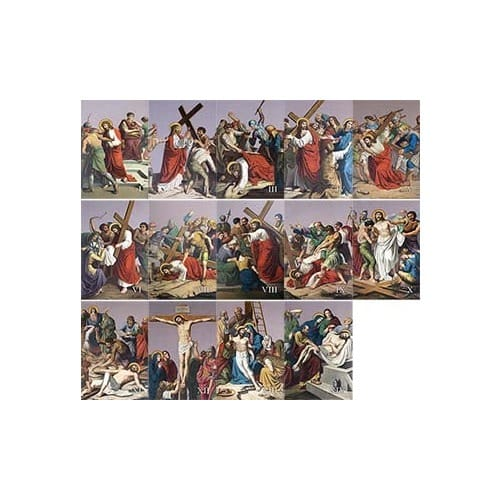 Aluminum Stations of the Cross (set of 14)