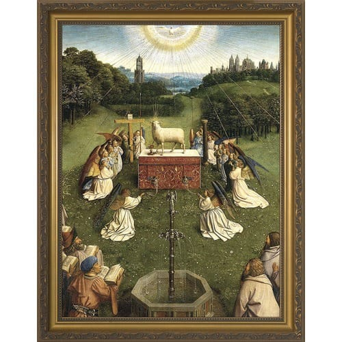 Altar of the Lamb w/ Gold Frame
