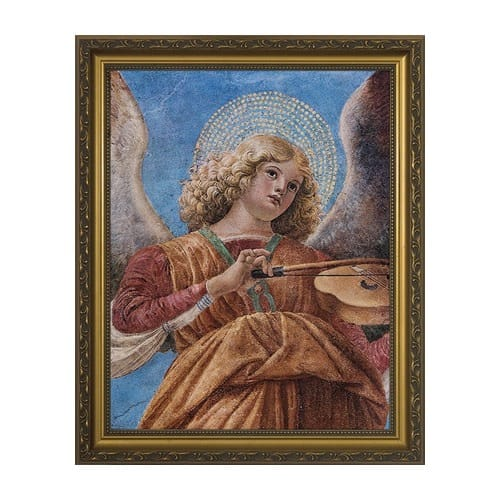Angel Playing the Violin w/ Gold Frame