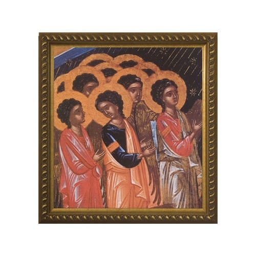 Angelic Choir of Angels w/ Gold Frame (14x15)