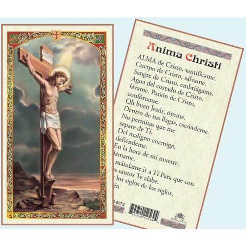Anima Christi Tarjeta En Espa 241 Ol The Catholic Company